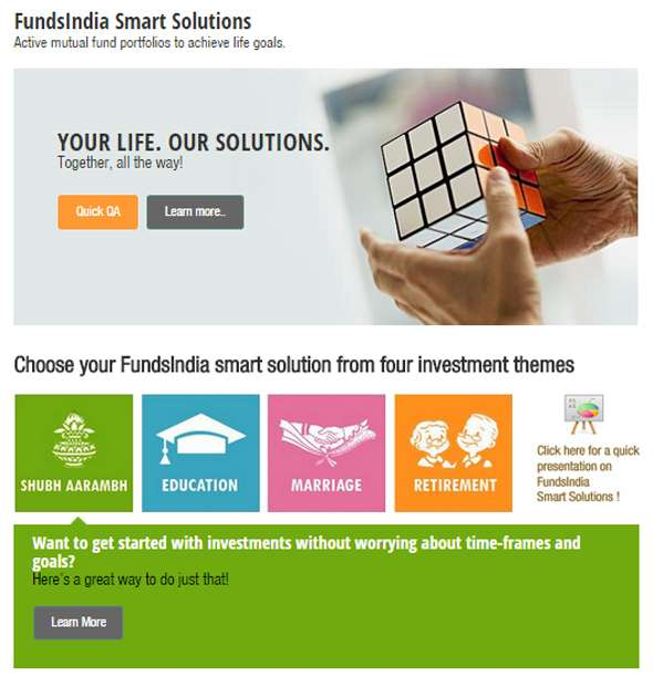 A screenshot of the Smart Solutions page.