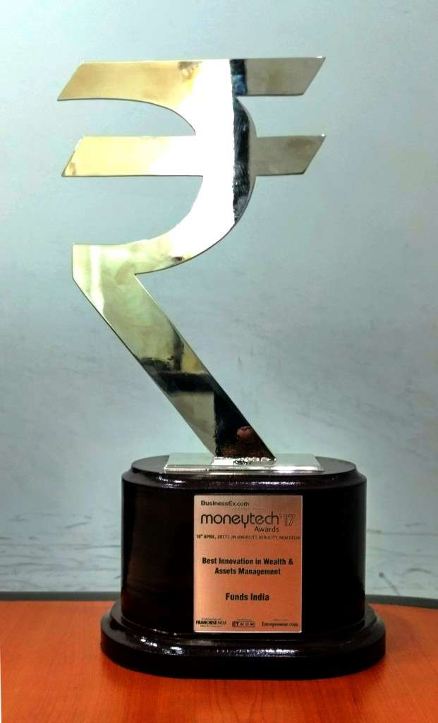 FundsIndia won the Award for Best Innovation in Wealth and Assets Management at teh MoneyTech Awards 2017