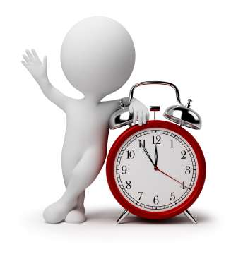 3d small people - alarm clock