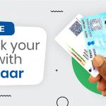 Link your Aadhaar and PAN before 30th September, 2021